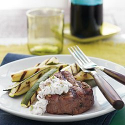 Grilled Beef Tenderloin with Horseradish-Walnut Sauce recipe