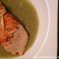 Sockeye Salmon on Kiwi & Lemon Puree recipe