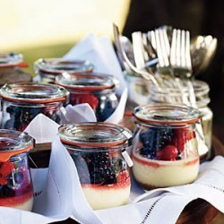 Goat Cheese Cheesecakes with Summer Berries recipe