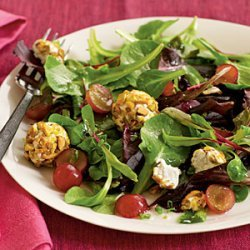 Spring Salad with Grapes and Pistachio-Crusted Goat Cheese recipe