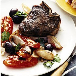 Lamb Chops with Tomatoes and Olives recipe