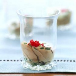 Oyster Shooter with Cucumber Sauce recipe