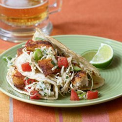 Fish Tacos with Cabbage Slaw recipe