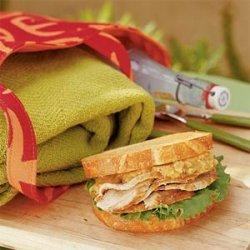Cider-glazed Pork Loin Sandwich with Walnut Pesto recipe