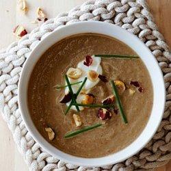 Mushroom Soup with Hazelnuts recipe