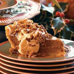 Pumpkin Pie with Maple Cream and Sugared Pecans recipe