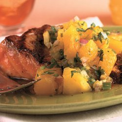 Grilled Salmon with Mango Salsa recipe