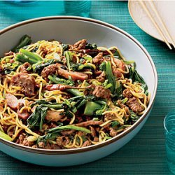 Asian Noodles with Roast Pork recipe