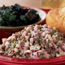 Warm Lentil-Ham Salad with Dijon Cream recipe
