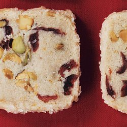 Pistachio Cranberry Icebox Cookies recipe