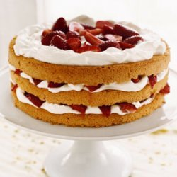 Strawberry and Cream Cake with Cardamom Syrup recipe