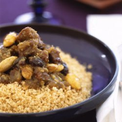 Moroccan Lamb Tagine with Raisins, Almonds, and Honey recipe