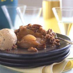 Apple Crisp with Prune Tequila Ice Cream recipe