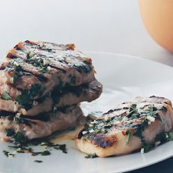Grilled Pork Chops with Garlic Lime Sauce recipe