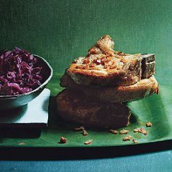 Sauteed Pork Chops with Sweet-and-Sour Red Cabbage recipe