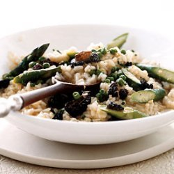 Risotto with Asparagus and Morel Ragoût recipe