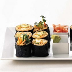 Vegetarian Brown Rice Sushi Rolls recipe