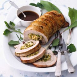 Turkey Breast Stuffed with Matzo and Fennel recipe