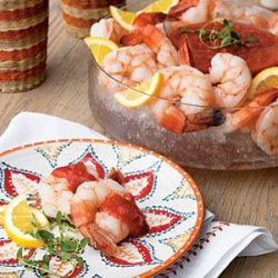 Vodka-Poached Shrimp with Bloody Mary Cocktail Sauce recipe