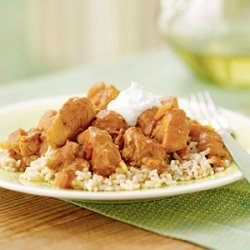 Spicy Peanut Chicken over Rice recipe