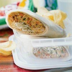 Chicken Sate Wraps recipe