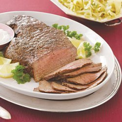London Broil with Horseradish Sauce recipe