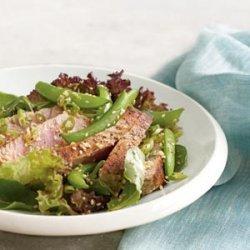 Seared Ahi Tuna Salad With Fresh Snap Peas recipe