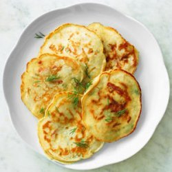 Dill Pancakes with Country Ham and Cheese recipe