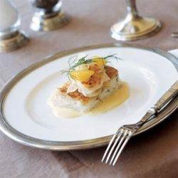 Breaded  Redfish with Shrimp, Fennel, and Orange Salad recipe
