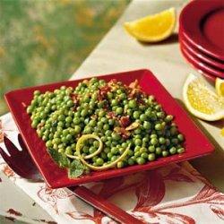 Green Peas With Crispy Bacon recipe