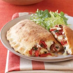 Red Pepper, Fontina, and Prosciutto Calzones recipe