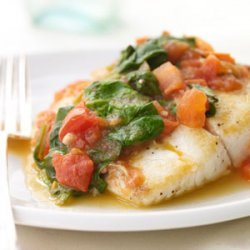Sauteed Snapper with Plum Tomatoes and Spinach recipe