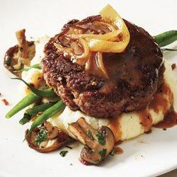 Hamburger Steak with Onion Gravy recipe