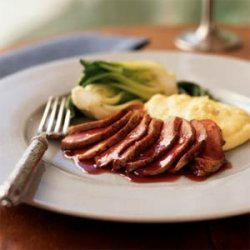 Seared Duck Breast with Ginger-Rhubarb Sauce recipe