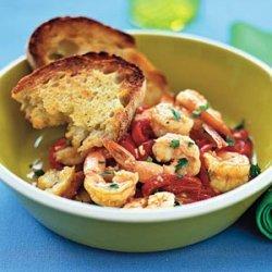Shrimp and Piquillo Peppers recipe