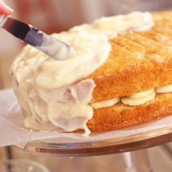 Banana Layer Cake with Lemon-Cream Cheese Frosting recipe