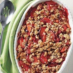 Peach and Plum Crisp recipe