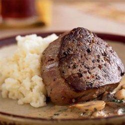 Beef Tenderloin with Mushroom Gravy recipe