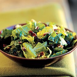 Mixed Green Salad With Dried Plums and Toasted Pecans recipe