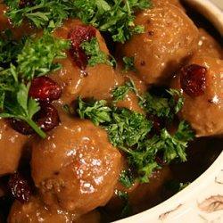 Tangy Cranberry Meatballs recipe