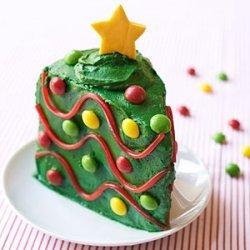 Christmas Tree Cake Wedges recipe