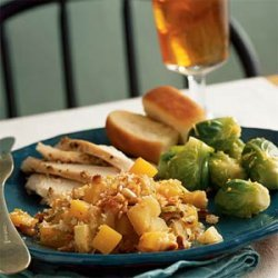 Butternut Squash, Apple, and Leek Gratin recipe