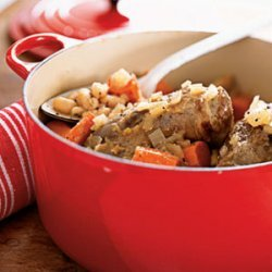 Lamb Shanks with Lemon and White Beans recipe
