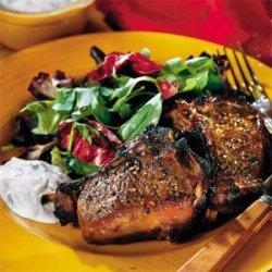Maple-Glazed Lamb Chops With Zesty Horseradish Sauce recipe