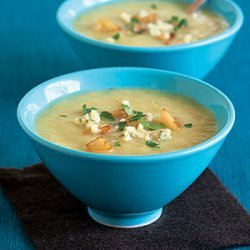 Celery Soup with Apples and Blue Cheese recipe
