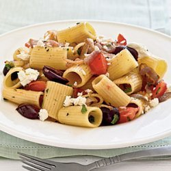 Pasta with Caramelized Onions, Tomatoes, Parsley, and Olives recipe