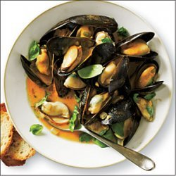 Curried Coconut Mussels recipe