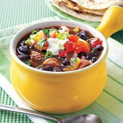 Black Bean Soup with Shredded Pork recipe