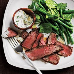 Flank Steak with Spicy Lemon Sauce recipe