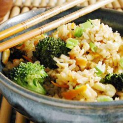 Fried Rice with Broccoli and Eggs recipe